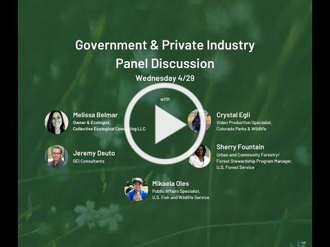 Career & Diversity Discussions: A Chat with Natural Resource Professionals - Day #2