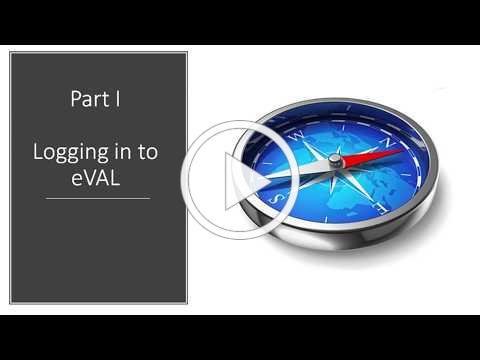 eVal Login Video
