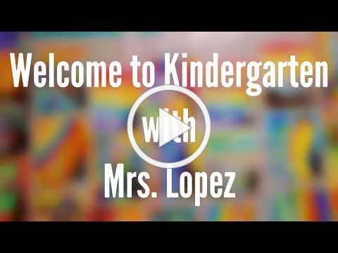 Kindergarten WVCS Open House 2020