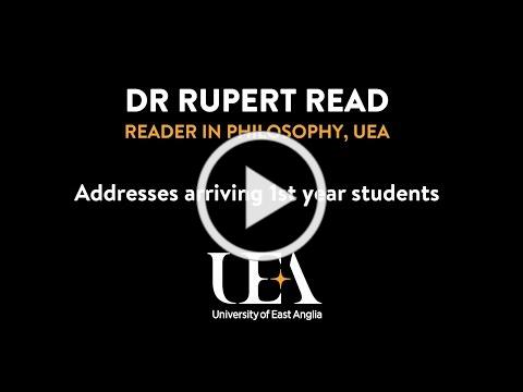 Rupert Read addresses arriving 1st Year UEA Students