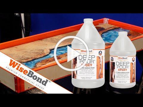 River Table Epoxy Pour - WiseBond Deep Pour Features