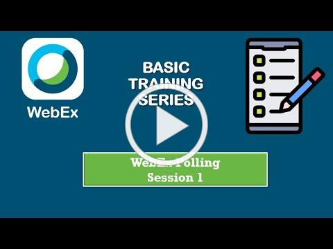 WebEx Training: Polling (Part 1)