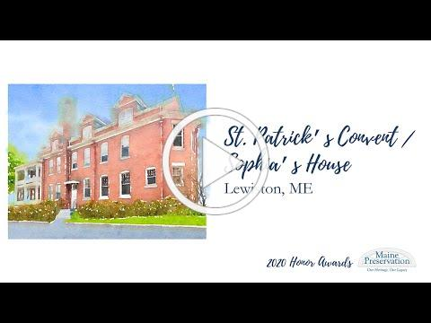 St. Patrick's Convent/Sophia's House, Lewiston, 2020 Honor Award Citation