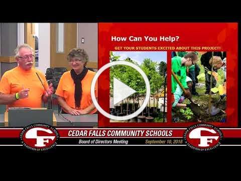 Cedar Falls Board of Education meeting - September 10, 2018