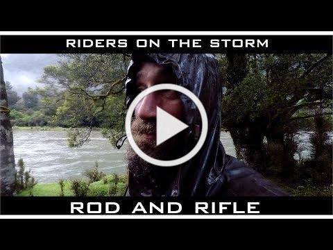 STORM smashes our camp - ROD and RIFLE RAFTING New Zealand with Josh James nz bushman and ECORAFTING