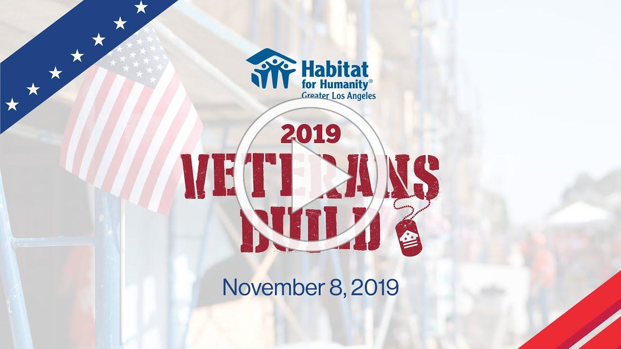 Habitat LA's 2019 Veteran's Build