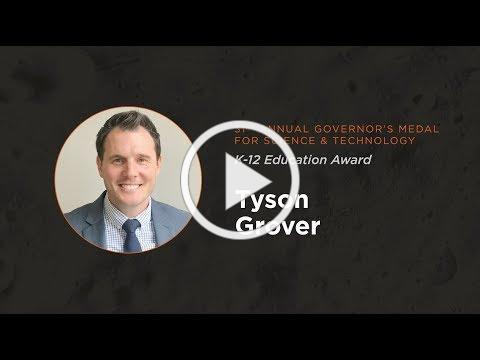 Tyson Grover 2018 Governor's Medal for Science and Technology