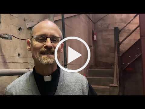 Fr Joseph in boiler room- #2