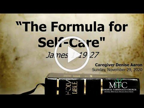 "Sermon: ""The Formula for Self-Care"" (James 1:19-27)"