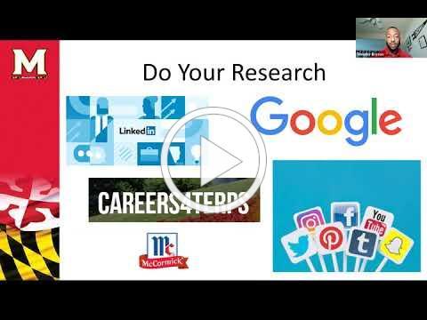 Virtual Career Fair Preparation Tips (THRIVE II: Succeed 9/10/20)