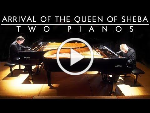 HANDEL - ARRIVAL OF THE QUEEN OF SHEBA (TWO PIANOS) GUITING MUSIC FESTIVAL - SCOTT BROTHERS DUO