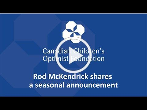 A seasonal announcement from the Canadian Children's Optimist Foundation