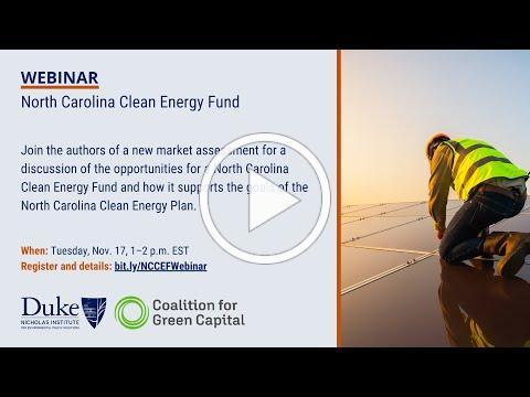 Webinar: North Carolina Clean Energy Fund