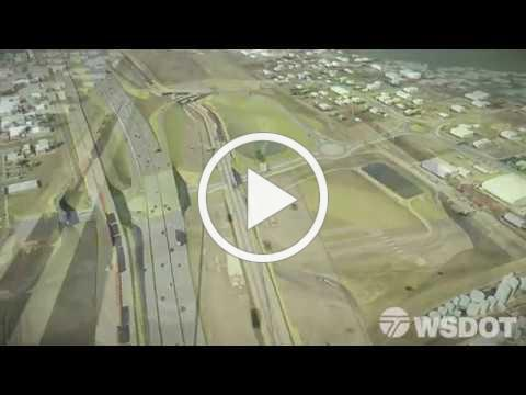 Virtual Drive-Through of the new Wellesley Ave. Interchange on the North Spokane Corridor