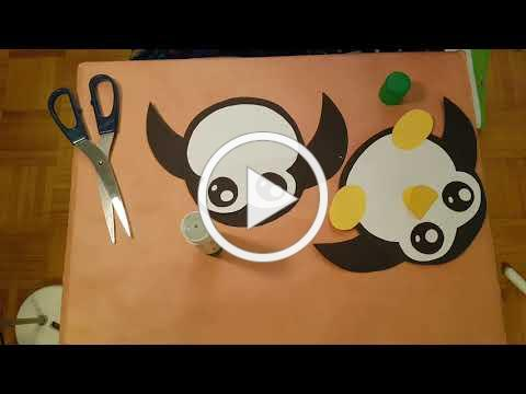 (Cantonese) 做手工: 小企鹅 。Paper craft : A moving paper penguin - by 123 easy paper craft 5... (YouTube)