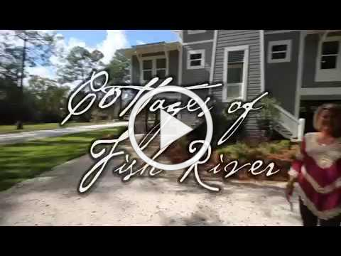 Baldwin County Waterfront Home for Sale: Cottages of Fish River, riverfront with boat slip!