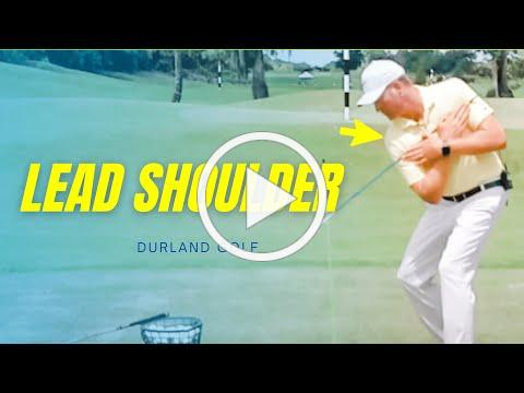 GOLF TIP | How To Hit A Golf Ball Solid - LEAD SHOULDER