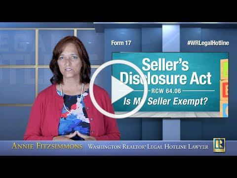Sellers Disclosure Act