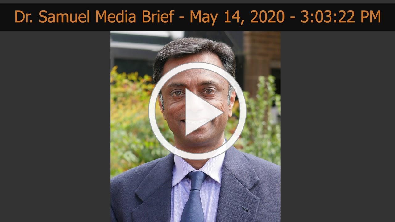 Dr. Alexander Samuel Media Brief 5-14-2020