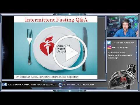 American Heart Association Q&A regarding Intermittent Fasting with Dr. Assad