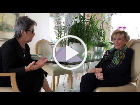 Dr. Edith Eva Eger, Mayor Mary Salas and Sandra Scheller talk about the Holocaust.