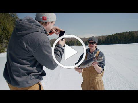 Ice Fishing in Haliburton Forest