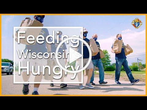 Wisconsin Knights Repurpose Parade Float to Bring Food to the Hungry