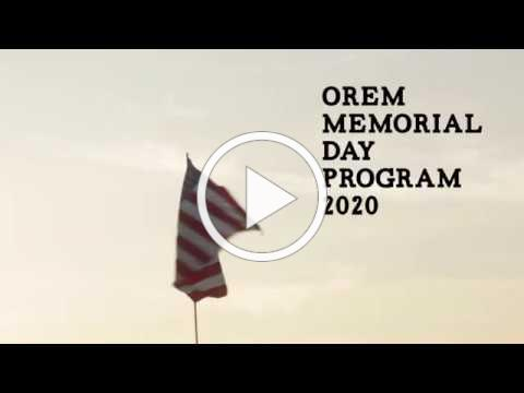 Orem Memorial Day Program 2020