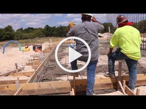 City Park Amphitheater Concrete Pouring