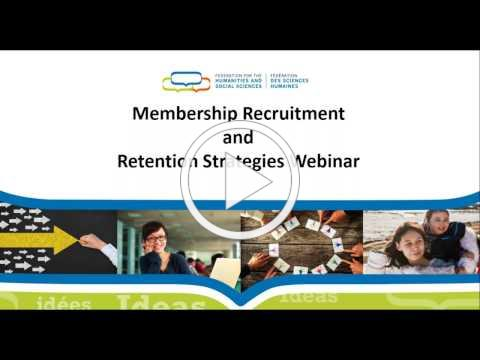 Webinar for members - Membership retention and recruitment strategies - Sherry Fox