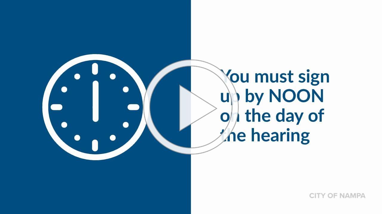 Public Hearings in Nampa