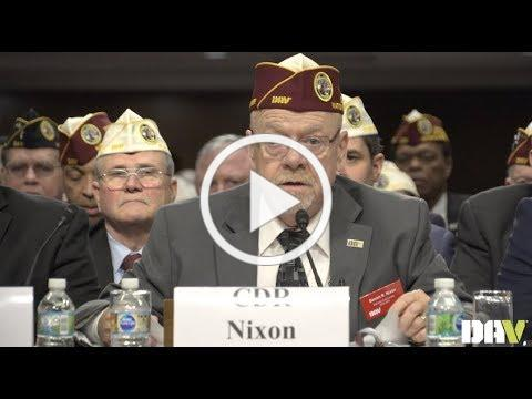 National Commander Dennis Nixon delivers testimony before Joint Committee