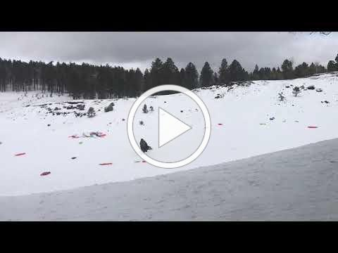 Snowplay litter at closed Crowley Pity sledding area Jan. 7, 2019