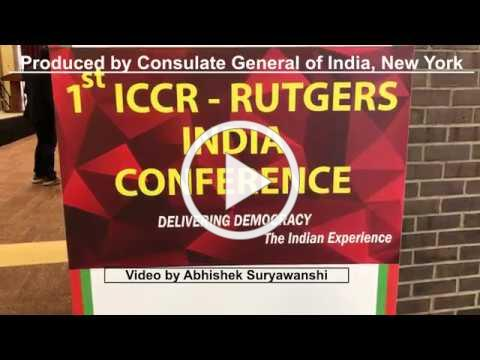 Glimpse of ICCR-Rutgers Indian Conference 2019