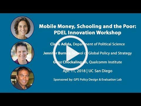 PDEL: Mobile Money, Schooling and the Poor