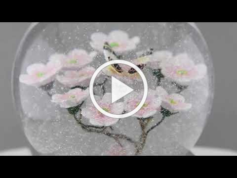Cool Snow Globes Schneekugel Butterfly on Branch