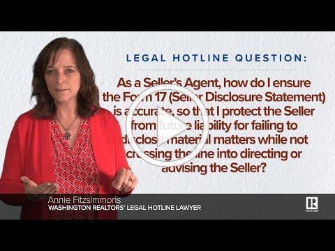 Form 17 - Seller Disclosure Statement