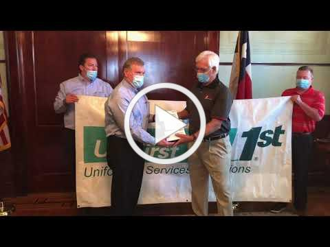 UniFirst Mask Donation to the Amarillo Chamber