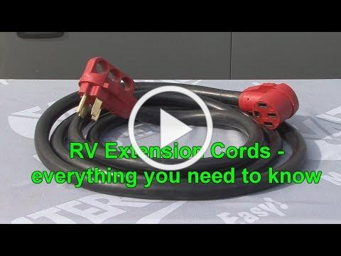 RV Extension Cords - everything you need to know
