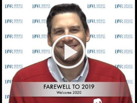 President Gusty Gulas Bids Farewell to 2019 and Welcomes 2020 BAR President David Lucas