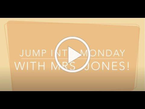 Jump Into Monday with Mrs. Jones_8-24-2020