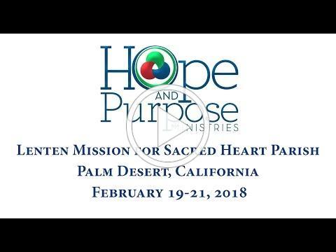 Lenten Mission Sacred Heart in Palm Desert, CA Invitation