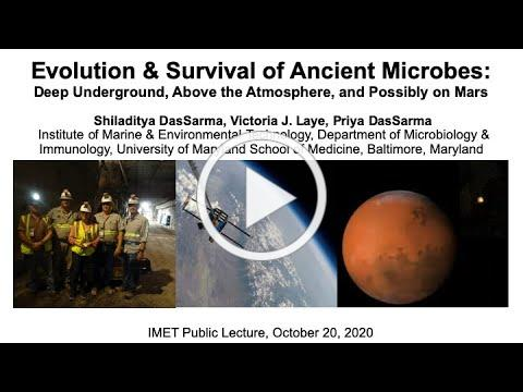 Public Lecture: Evolution & Survival of Ancient Microbes