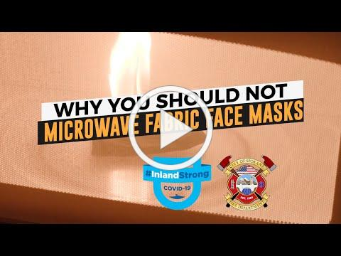 Don't Microwave your Fabric Face Mask!