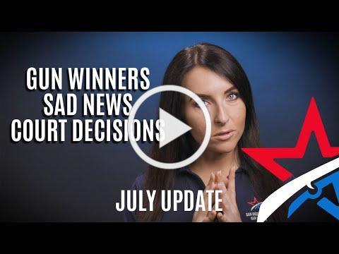 SBCGO Report - Gun Winners, Sad News, and Court Decisions