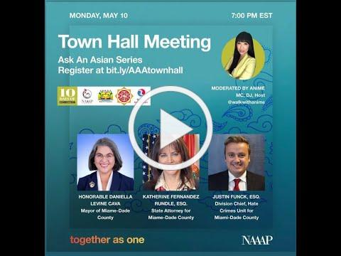 Together As One Town Hall: Asian American Community on Hate Crimes