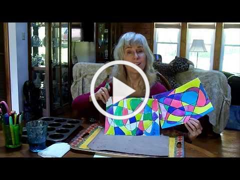 Easy Abstract Painting with Food Coloring