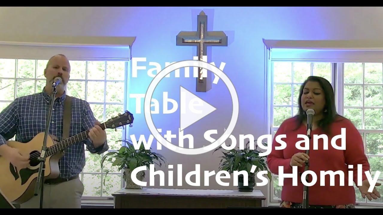 Family Table With Songs and Children's Homily