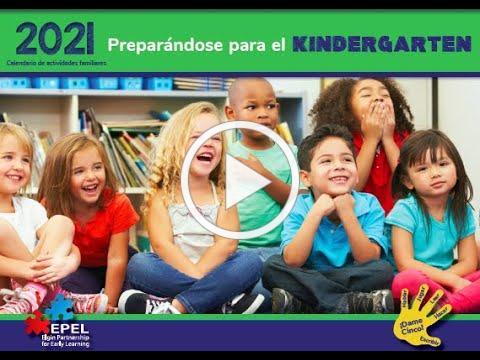 2021 Septiembre Preparándose para el Kindergarten calendario de vídeo