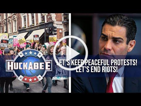 How Do You Keep Protests From Turning Into RIOTS? Miami Mayor Francis Suarez | Huckabee
